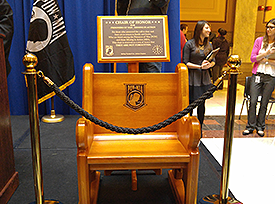 Chair of Honor at the IN State House