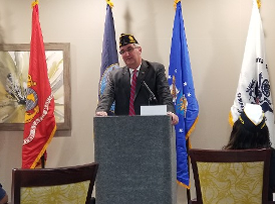 Governor Holcomp is our newest member of American Legion Post 510