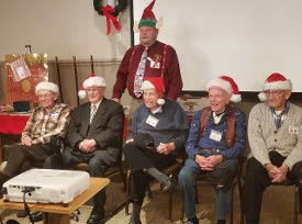 World War II Round table Christmas Party