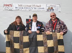 Correctional Industrial Facility (CFI) Staff from Pendleton delivering blankets made by Inmates for our Homeless Vets to VSI