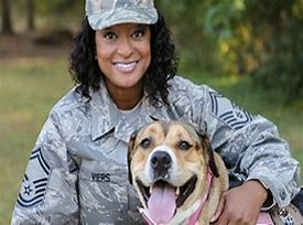 Soldier and her Dog