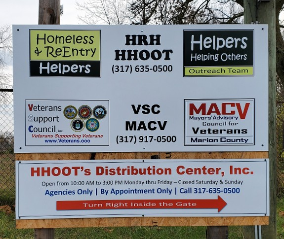 VSC, HRH & HHOOT's Welcome sign at the Temple Street Entrance